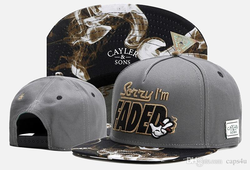 Hip Hop Men/'s CAYLER Sons Cap adjustable Baseball Snapback Street Black hat 594#