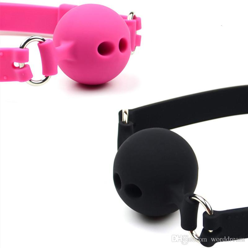 Silicone Mouth Plug Ball Gag Bondage Slave Restraint Belt Fetish Adult Games Couples Products Oral Sex Toys For Women Men Gay