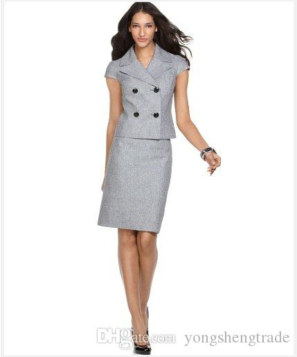 Gray Womens Suit Hardon Clothes