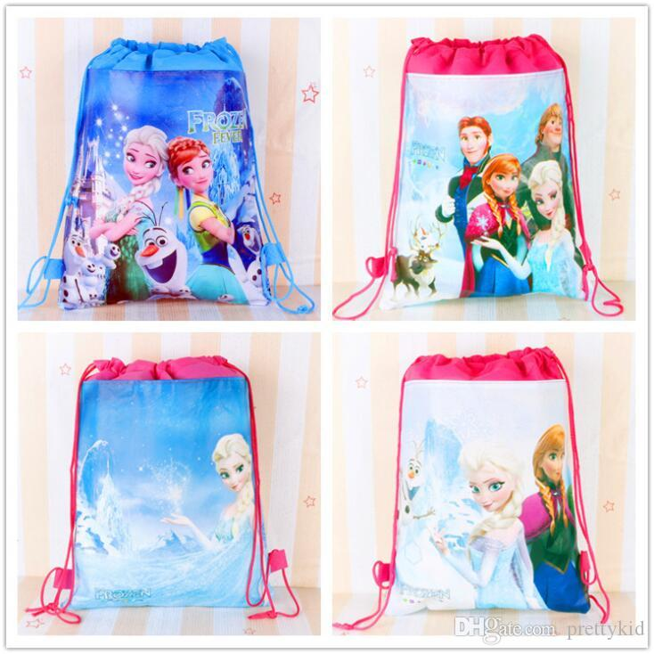 Birthday Party Decoration Frozen Theme Drawstring Bags Kids Favors