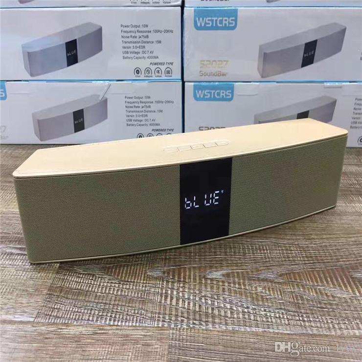 High-end Quality Wireless Bluetooth Speaker S2027 Portable Large Portable Metal Bluetooth Audio, The Best Sound Quality, Factory Direct