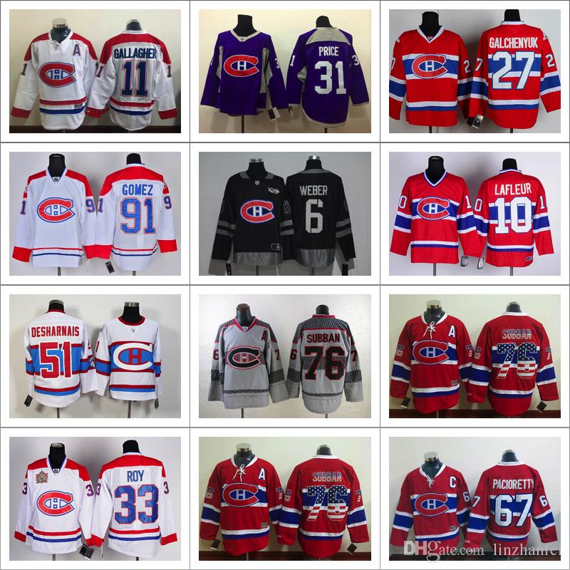 the latest c53aa f9ac8 top quality nhl jerseys montreal canadiens 27 alex ...