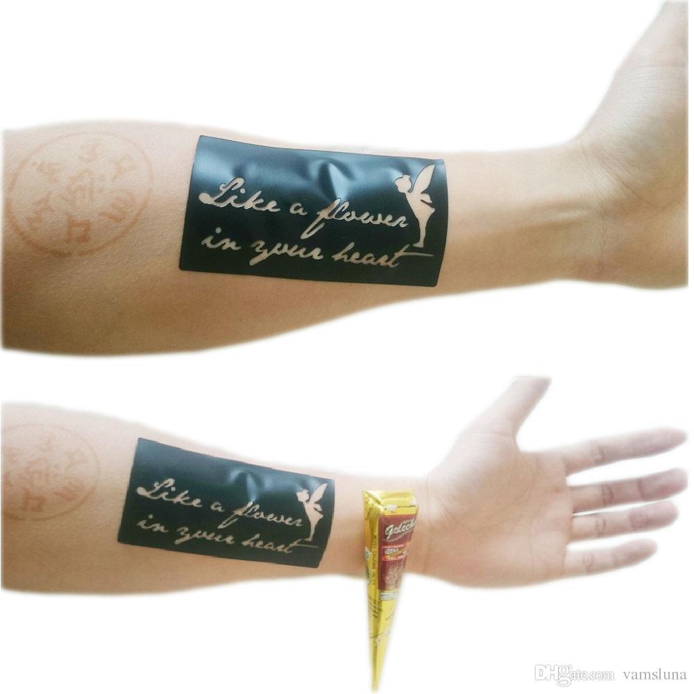 12X Tatuaggi all'hennè colore rosso naturale Golecha India Inchiostro a base di erbe Mehandi body art pittura forniture tatuaggio