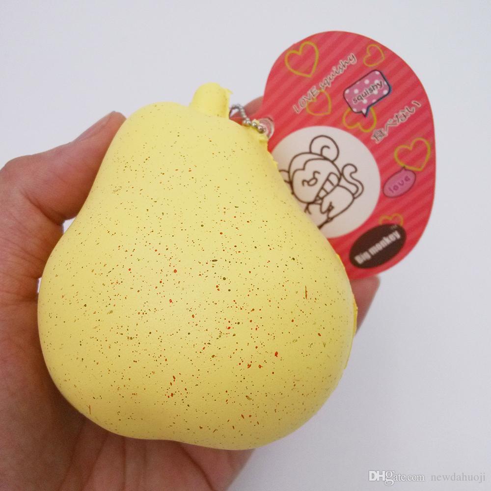 20 pçs / lote 9 cm novo Kawaii Lento Rising aroma Pear Squishy Charme