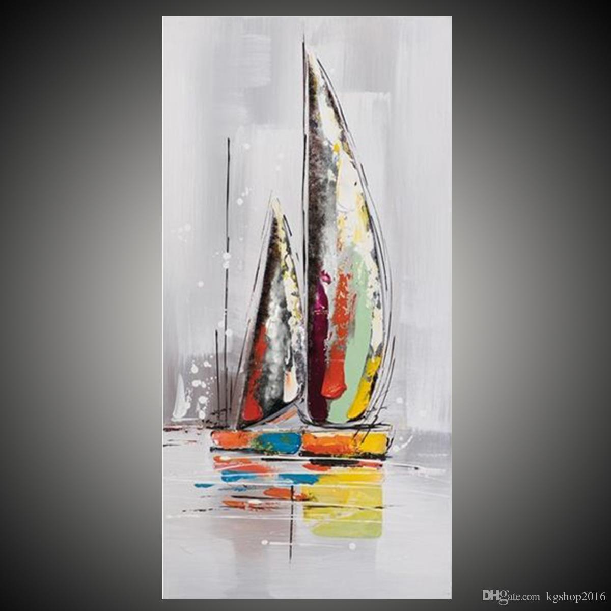 Abstract pictures of boats