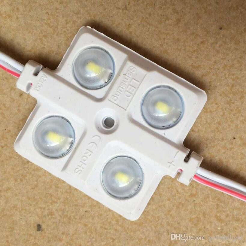 5730 4LEDS módulo led de inyección con lente, carcasa de ABS de colores, DC12V, 5630 módulo LED, módulo impermeable IP65 4led