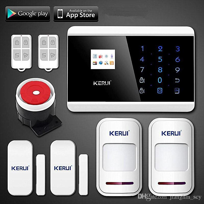 LS111- Wireless app control infrared motion detector gap sensor gsm pstn  house hotel valli alarm system Russian/Spanish/French