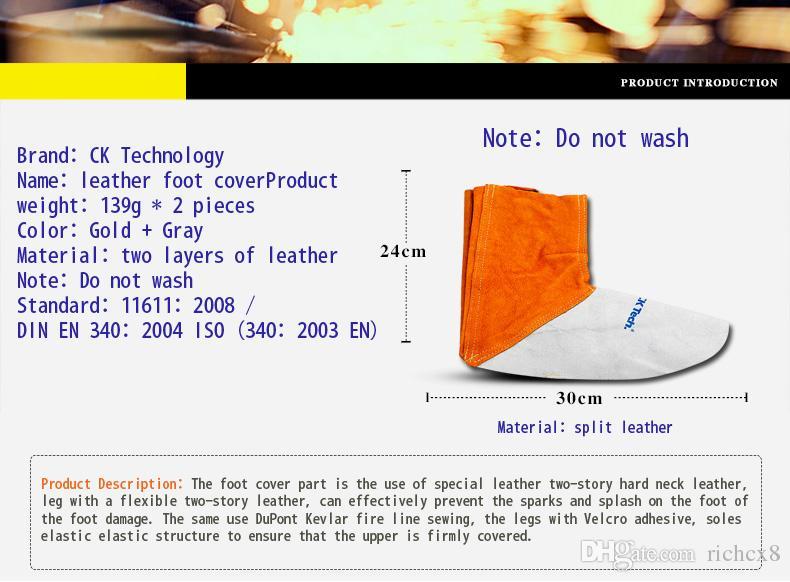 Сварка бахилы кожаный комплект нога рукав сварка ноги покрыты рабочие в рабочей Кай сварщик ног комплект
