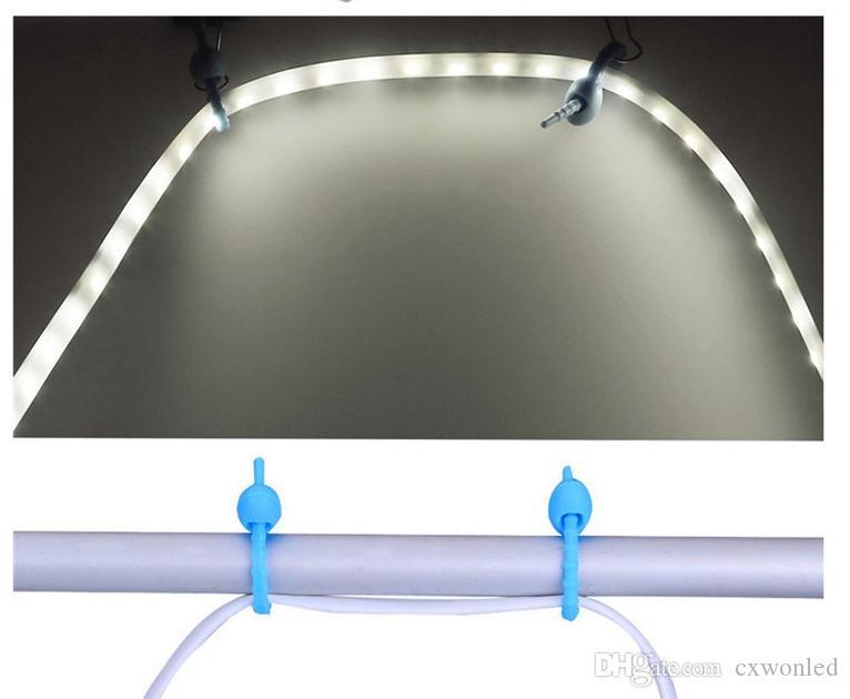 LED USB lumière flexible de bande blanche lumière chaude Portable 1.5m étanche SMD 3528 Lampe Lanterne pour Camping Randonnée DC5V