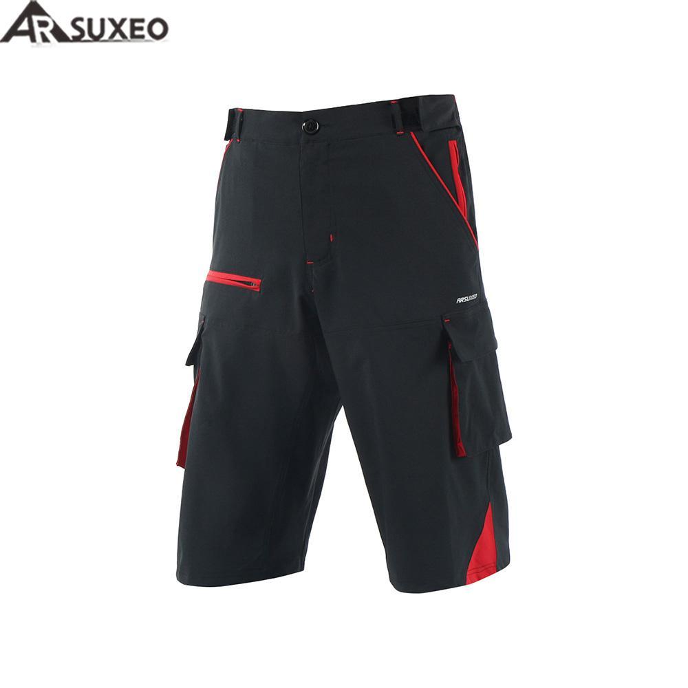 a5ace63c9 ARSUXEO 2017 Mens Outdoor Sports Loose Fit Cycling Shorts Downhill MTB  Shorts Mountain Bike Shorts Zipper Pockets 1708 Retro Cycling Jerseys  Cycling Jacket ...