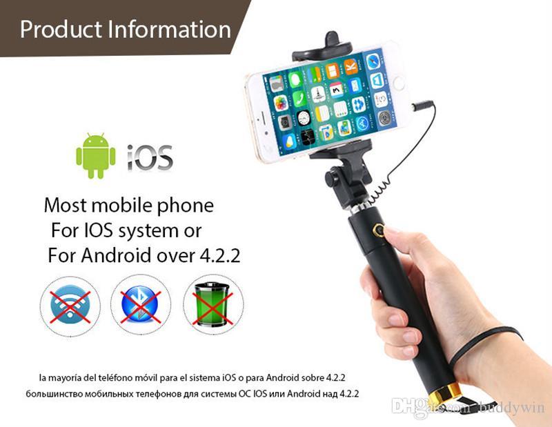 Bastone Selfie Stick Mini Selfie Stick estensibile smartphone e fotocamere con confezione