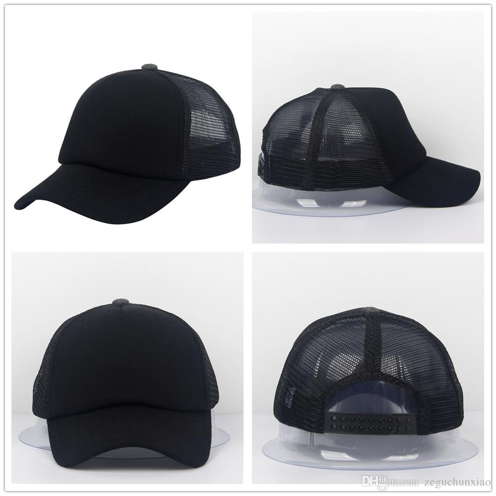 Man S Woman  Mesh Hats Sport Baseball Caps Blank Adjustable Trucker Hat  Adult Size 57~59cm Accept Custom Made Logo Richardson Hats Headwear From ... be8828383a8