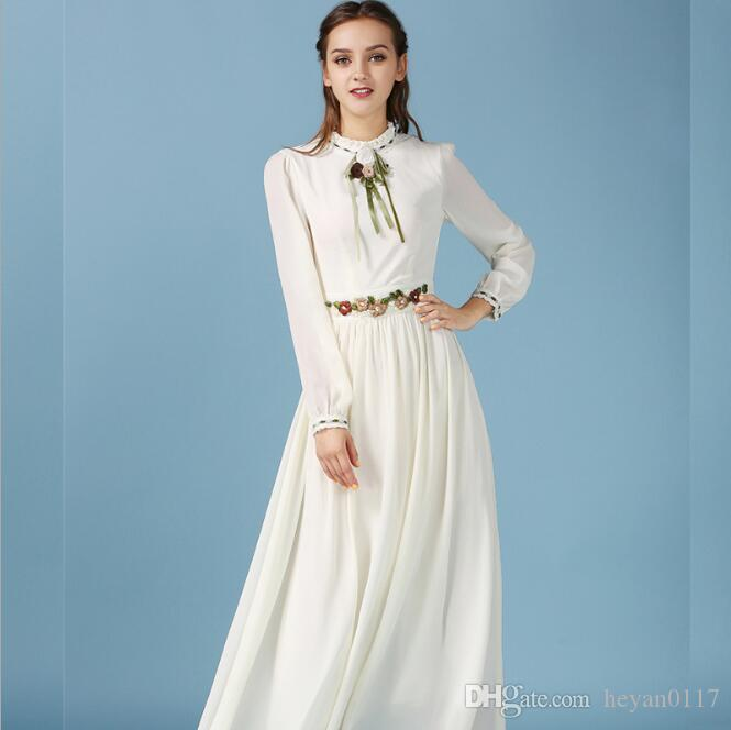 Embroidery Long Dresses Adult Abaya Light Yellow Embroidered Retro Big  Swing Muslim Dress Elegant Ladies Islamic Dress Abaya UK 2019 From  Heyan0117 252bfa3633da
