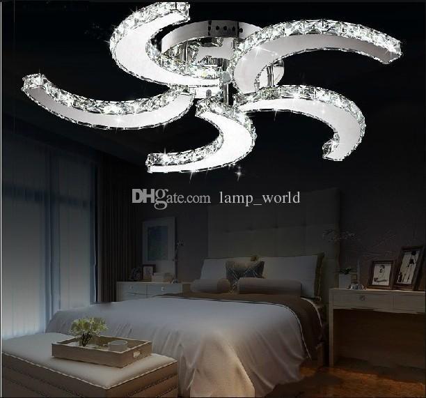 2019 New Modern Lustre Led Crystal Ceiling Fan Lights For