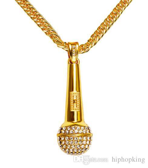 Big men necklace music microphone pendant hip hop jewelry gold big men necklace music microphone pendant hip hop jewelry gold silver color rock hiphop chain dj rap necklaces mens jewellery hip hop necklace mens pendant mozeypictures Choice Image