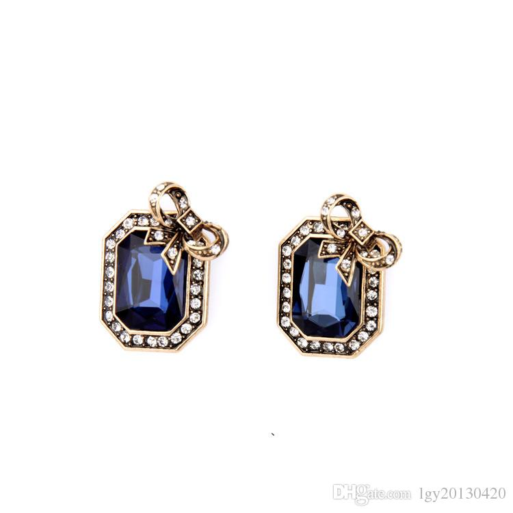 white gold in qp blue ctw topaz stud gemstone earrings