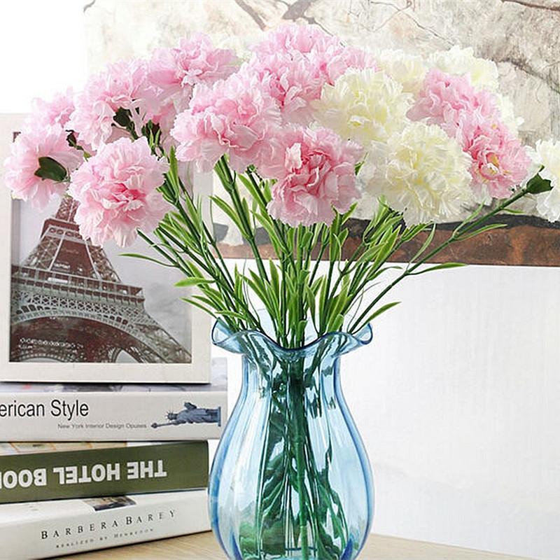 2019 Artificial Flowers Single Silk Flower Artificial Fake Carnation