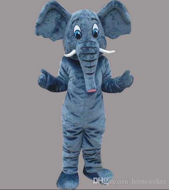 공장 직접 판매 고품질 EVA 재료 헬멧 드롭 배송 코끼리 마스코트 의상 만화 인형 의류 의상