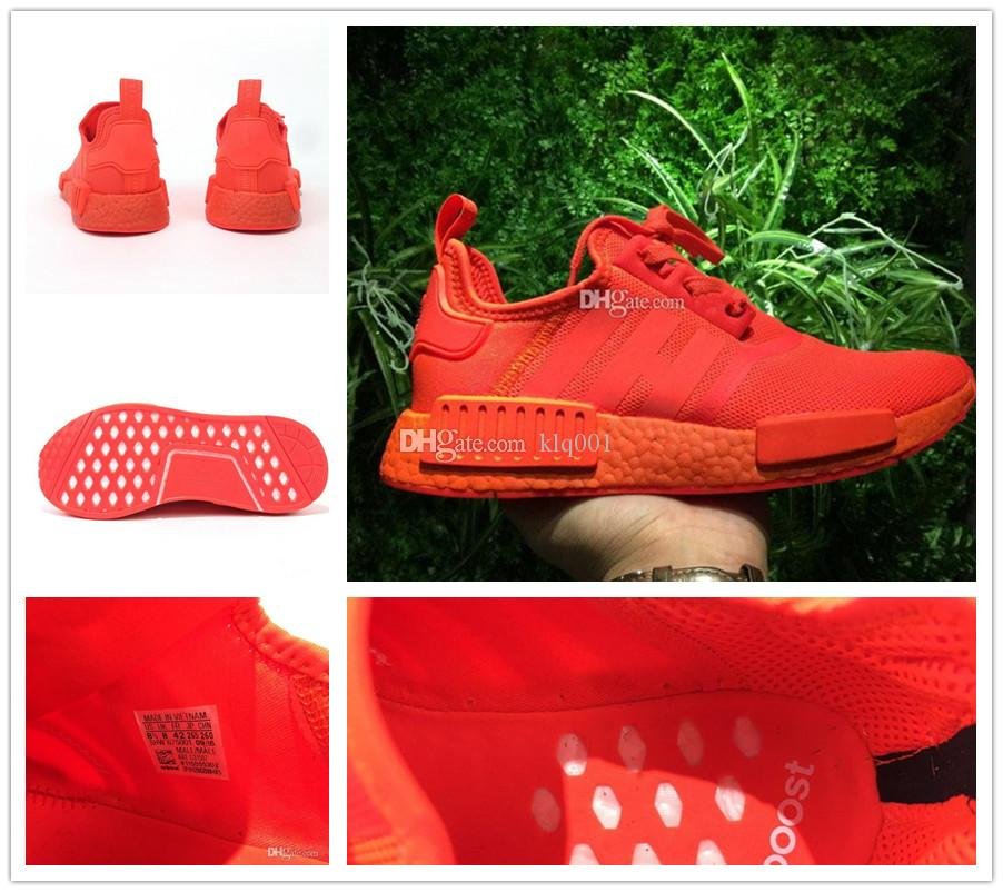 a318805fe555 2017 Hot Sale NMD R1 Solar Red Shoes S31507 Perfect High Quality Version  NMD RI Sneaker Shoes Wholesale Size 36 45 Shoes For Women Dansko Shoes From  Klq001