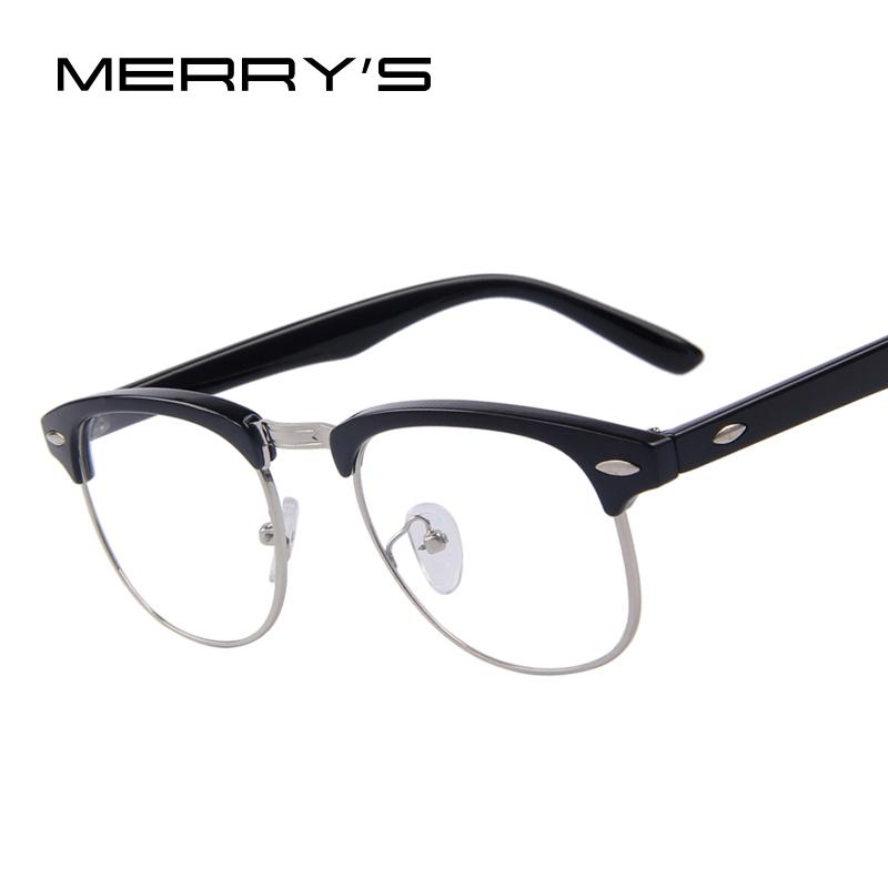 bf92faefdc8f Wholesale- MERRY S Classic Retro Clear Lens Men Eyeglasses Women ...