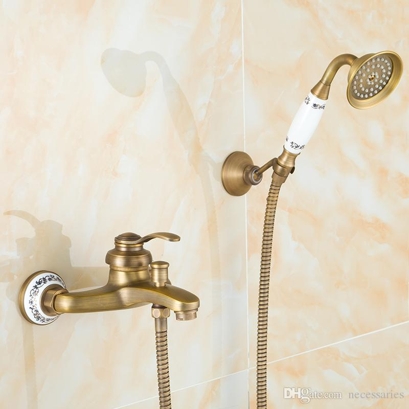 Brass Bathroom Shower Sets With Faucet/Lift Water Saving Shower ...
