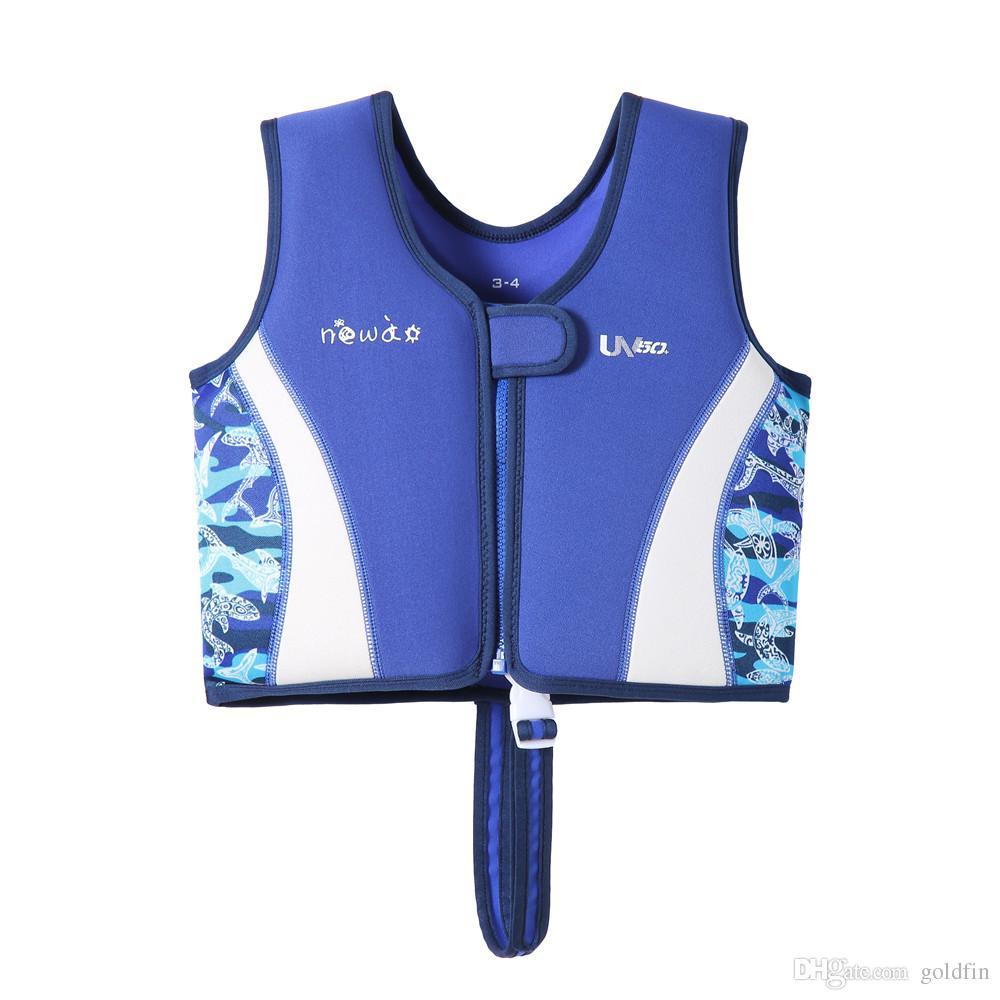 Niños chaleco salvavidas de neopreno chaleco salvavidas para niños nadar dispositivo flotador de ayuda para niños 1-12 años es
