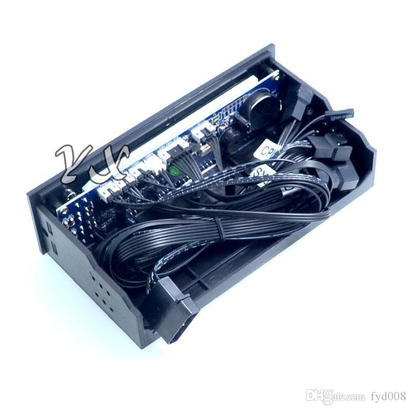 nuevo controlador de velocidad del ventilador del controlador del ventilador STW-5023 Panel frontal del chasis del disco óptico Termostatos del radiador de la computadora de 12V y 3 clavijas