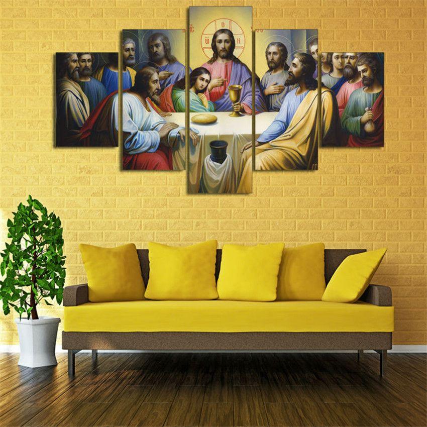 2018 Jesus The Last Supper Home Decor Hd Printed Modern
