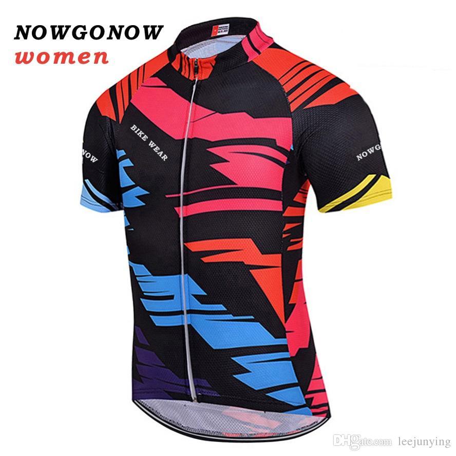 Women 2017 Cycling Jersey Summer Clothing Bike Wear Multicolor Black ... 38259667d