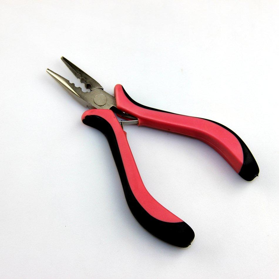 2018 Wholesale Hair Extensions Pliers Hair Extensions Tools Pink 3