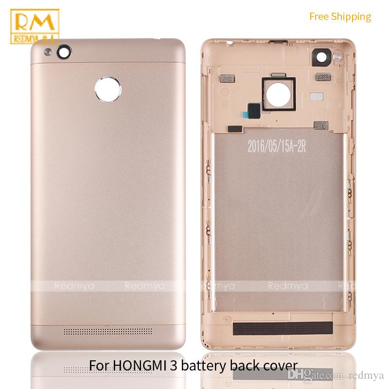 For Xiaomi Redmi 3, Note 4 Battery Cover Back Housing Full Back Cover Door Rear Case Gold Grey Silver Color Cellphone Parts