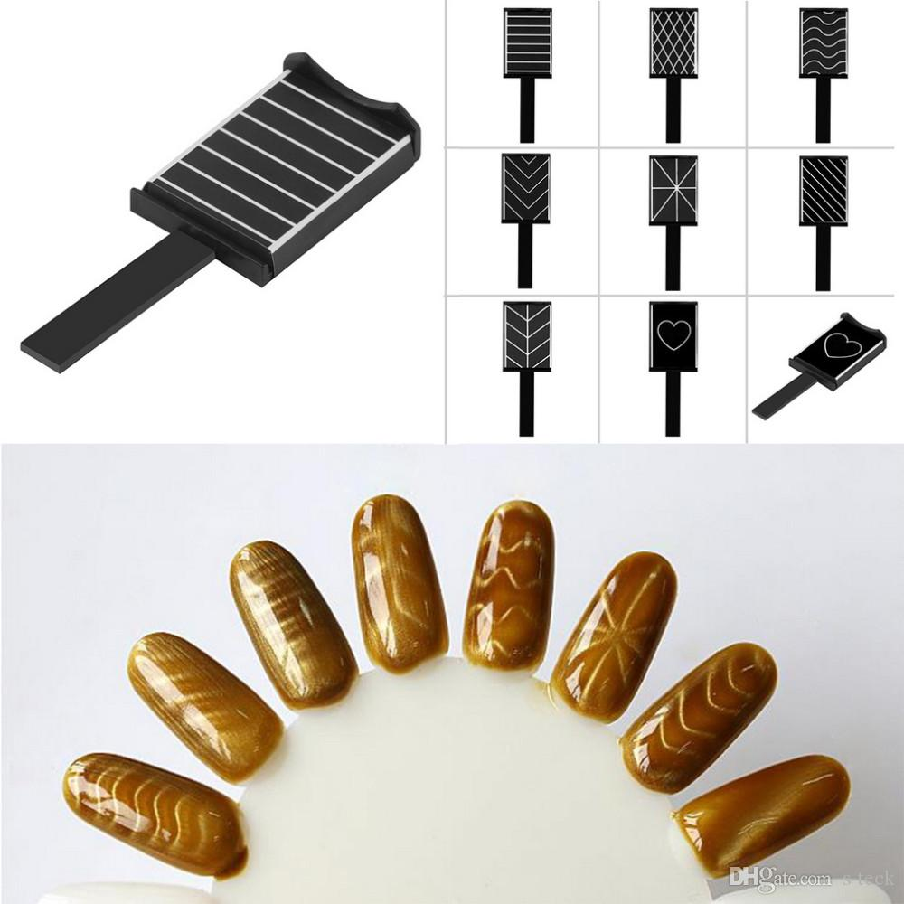Trendy Patterns Magnet Plate Wand Board Nail Art for DIY 3D Magnetic Polish With 8 Choice
