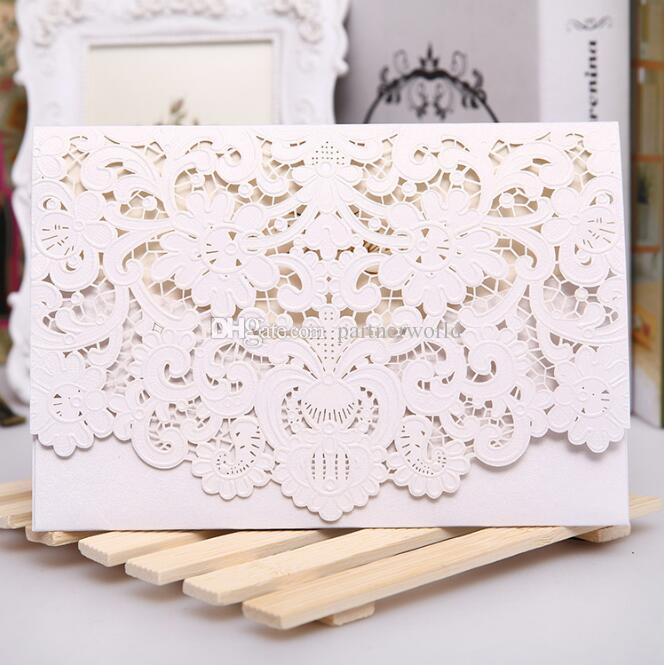 Novo Champanhe Floral Convites de Casamento de Corte A Laser Cartão de Mesa Cartão De Lugar Cartão Para Favores Do Casamento E Presentes DHL Frete Grátis