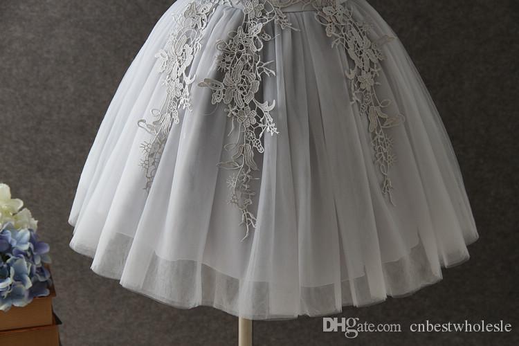 Korean 2017 Bébé Filles Tulle Robes De Dentelle Enfants Filles Princesse 3D Floral Dress Fille Robe De Fête De Luxe Bébés Vêtements D'été