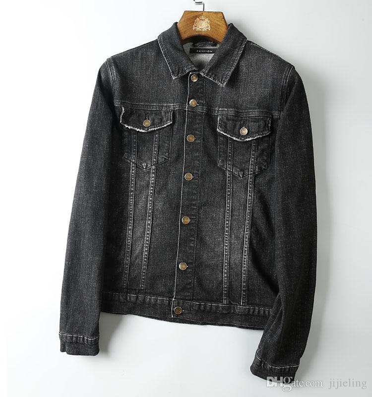 2017 Fall New Mens Designer Cowboy Jacket~ Fashion Luxury Retro ...