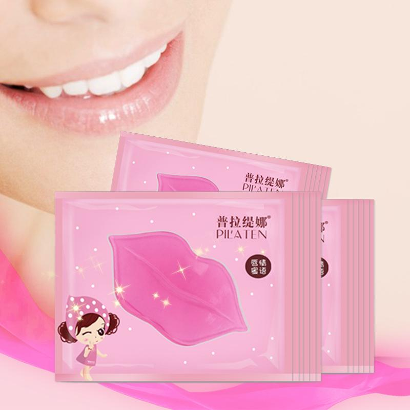 PILATEN Cristal Collagen Lip Mask Hidratante Anti Rugas Esfoliante Lip Care Tratamento Marca Maquiagem 7g Top Quality DHL Frete Grátis