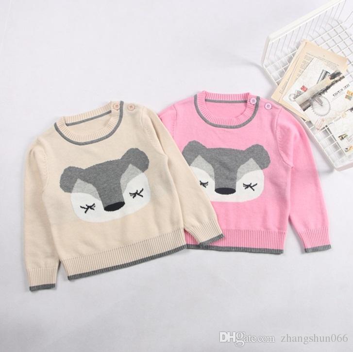 68d45753d19c 2017 Boys Girls Childrens Knit Pullover Clothing Cartoon Cotton Long ...