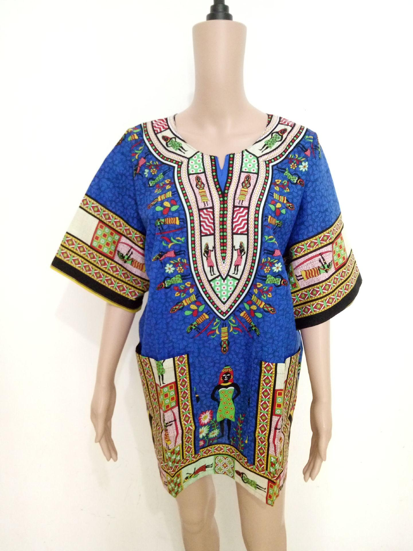 0c299ea4b116e African Dashikis for Woman Dresses Africa Ladies Dress Bazin Clothes ...