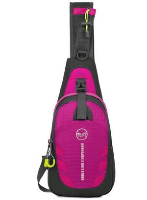 100 unids / lote impermeable deporte al aire libre bolsa de pecho paquete honda mochila cuerpo cruzado sola bolsa de hombro con correa ajustable para caminar corriendo