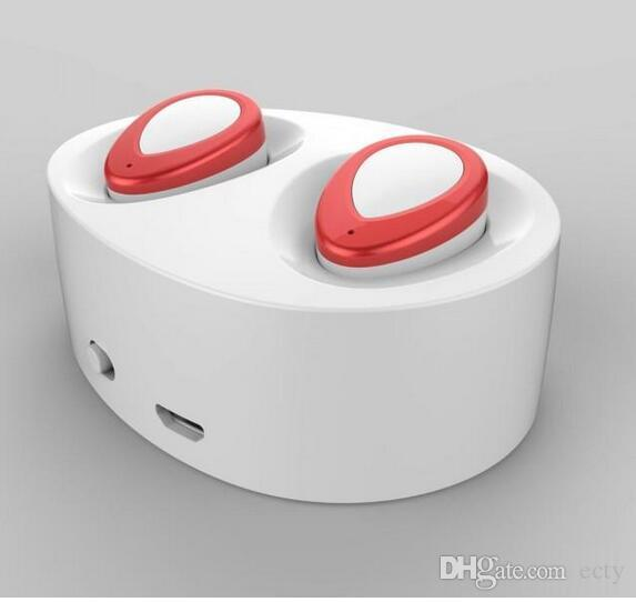 Avec prise de charge TWS K2 Mini Bluetooth écouteurs sans fil stéréo écouteurs pour iphone i7 plus S7 edge musique de lecteur MP3 téléphone portable écouteurs
