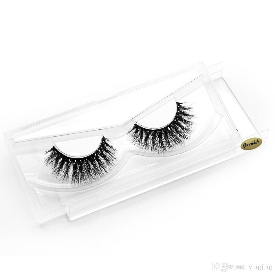 Querschnitt 1 auf 3D Nerz Falsche Wimpern Natürliche handgemachte falsche Wimpern verlängern Schönheit Make-up Tls