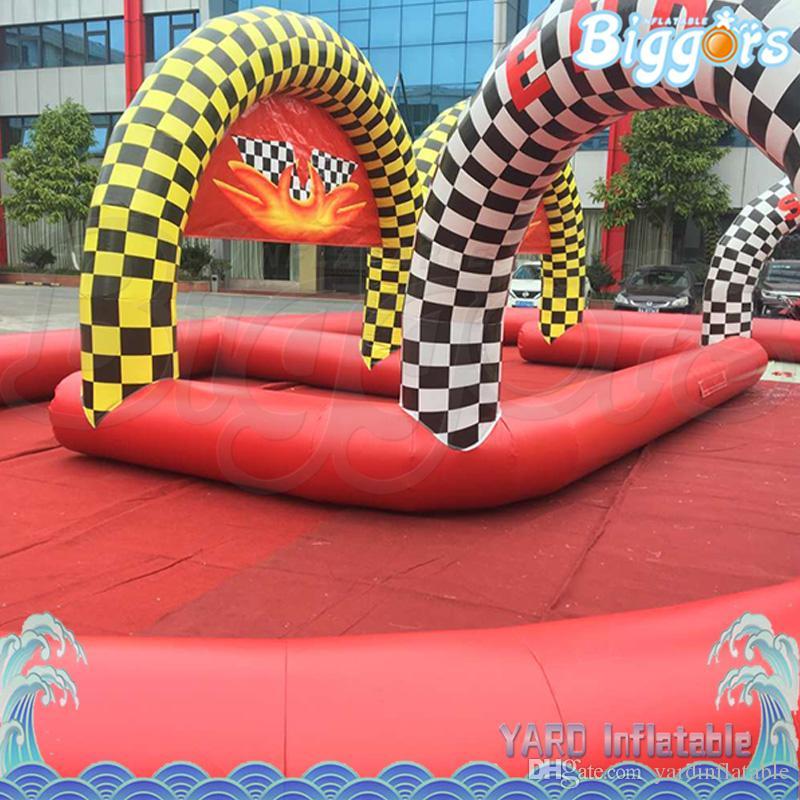Сторона Или развлечения Использование Открытый Смешные Новый дизайн Надувной Go Karting Race Air Track Air Tube или продажа