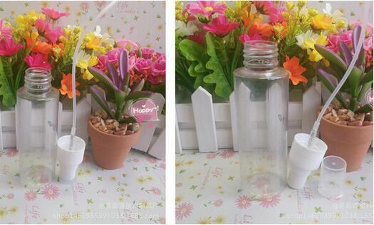 30ml de alta calidad de plástico transparente botella del aerosol recargable botella de perfume botella de PET con spray de bomba