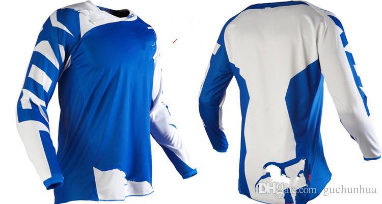 Racing Sets Мотокросс DH Downhill MX MTB Дышащая мотоциклетная футболка Трикотажные изделия с длинным рукавом Авиакомпания Джерси для бездорожья Гоночная футболка