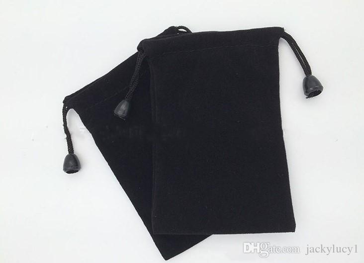 BRAND NEW BLACK Velvet Beaded Drawstring Pouches Jewelry Packaging Christmas Wedding Gift Bags