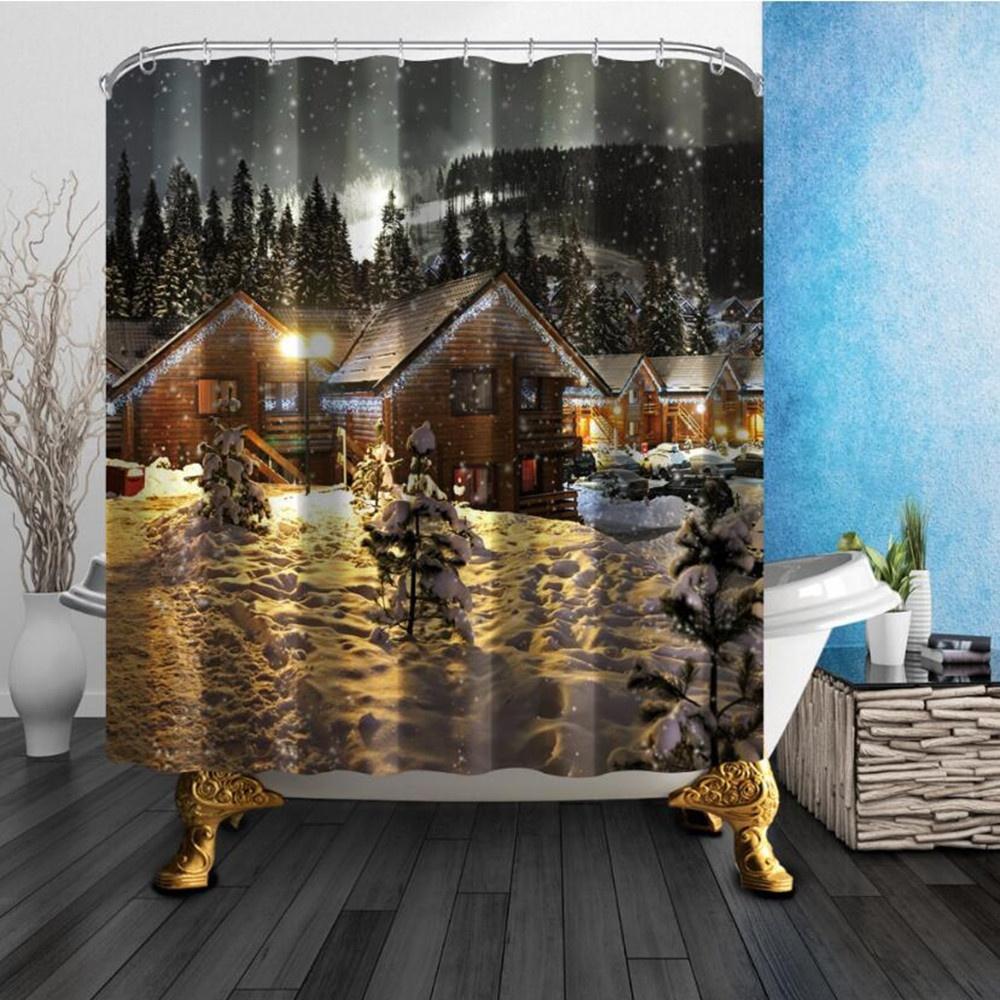 Winter Snow 180*180cm Quality Polyester Fabric Waterproof Mildew ...