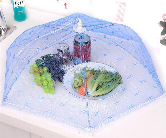 Bar Gazlı Bez Gıda Kapak Şemsiye Tarzı Piknik Anti Sinek Cibinlik Çadır Yemek Kapak Masa Mesh Gıda Kapak Mutfak Aletleri