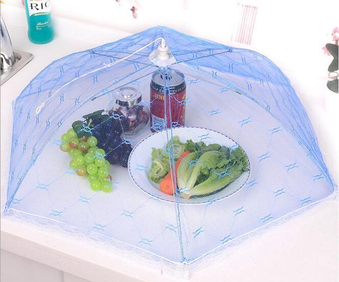 Barra de Comida de Gaze Cobertura Estilo Guarda-chuva Picnic Anti Mosquito Mosquiteiro Net Tenda de Refeição de Mesa de Malha Tampa de Comida Ferramentas de Cozinha