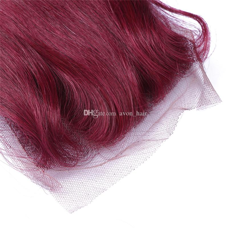 Popular Burgundy Color 99J Hair 3bundles With Lace Closure 4x4 Wine Red Body Wave Brazilian Virgin Hair Weft With Top Closure