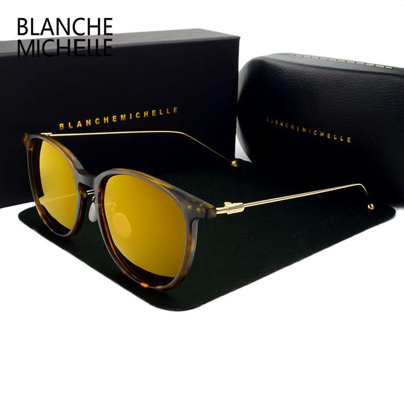 96daee8fea Wholesale- Blanche 2018 New Polarized Round Sunglasses Men Luxury ...